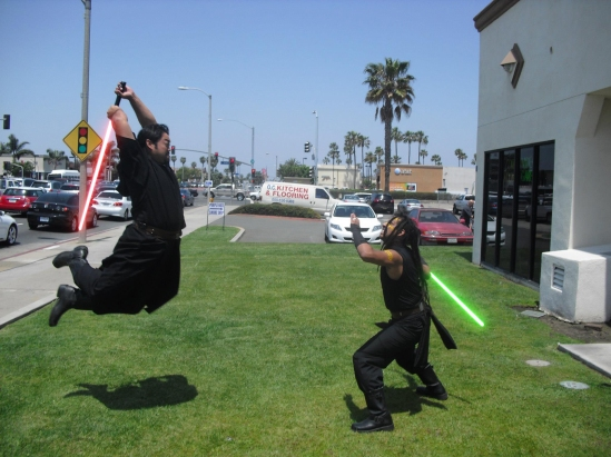 The best defense for a flying sith is....