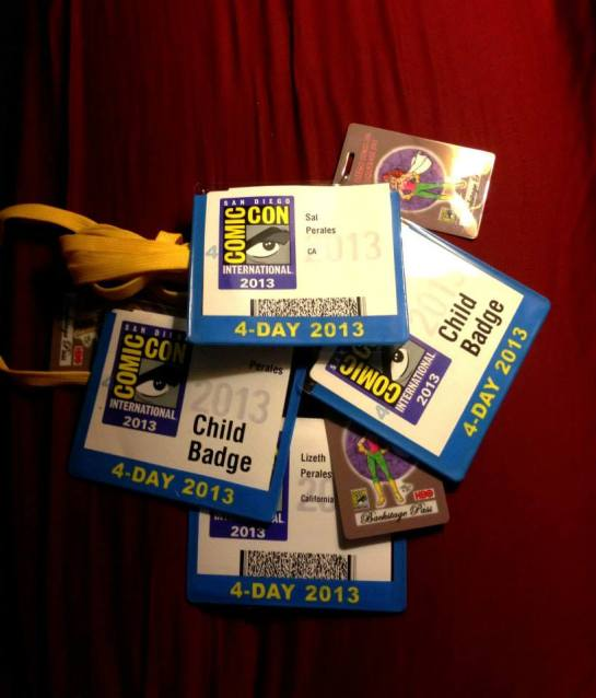 Passes San Diego Comic Con Comicon 2013 SDCC